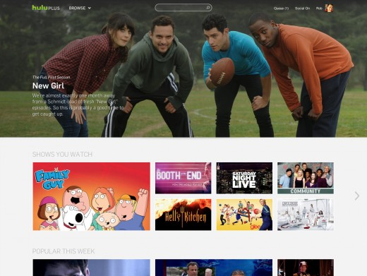 hulu1 520x391 Hulu redesigns its website to boost content discovery, adds browse option, staff picks and more