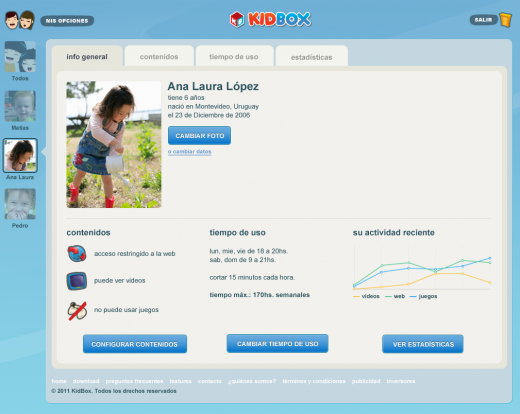 kidbox dashboard 520x414 Kidboxs Internet playground for kids is now available in Portuguese