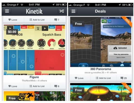 kinetik screenshots 2 520x399 App recommendation platform Kinetik gets a new look as it aims to become Flipboard for apps