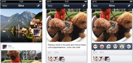 line prof 2 520x248 Asian messaging app Line gets social, introduces Facebook style profiles and timelines