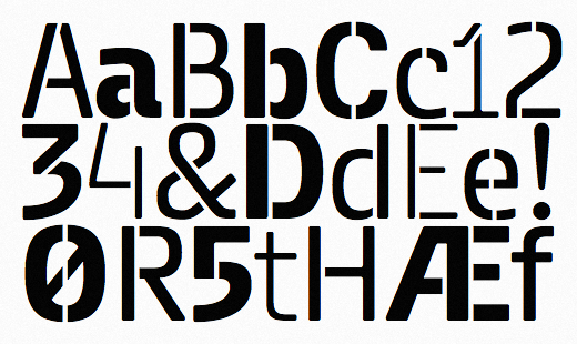 metro stencil 25 Brand new typefaces released last month that you need to know about (August)
