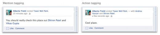 Mention Tagging allows insertion of Facebook friends right into the text fields of any connected app