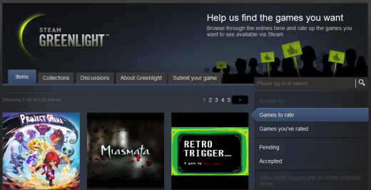 steam greenlight 520x266 Valve launches Greenlight, lets you pick which games come to Steam