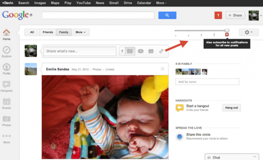 subscribe posts 520x318 Google rolls out more controls for Google+ Circles, to cut out the noise in your stream