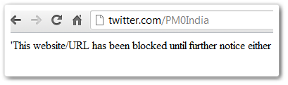 twitter india blocks thumb1 Twitter cedes to government demands, blocks fake accounts in India (Update: No, its ISPs)