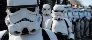 Star Wars Stormtroopers pose for photogr