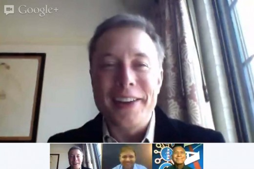 Elon Musk 520x346 Elon Musk and Charlie Bolden of NASA discuss Sundays Dragon capsule mission in Google hangout