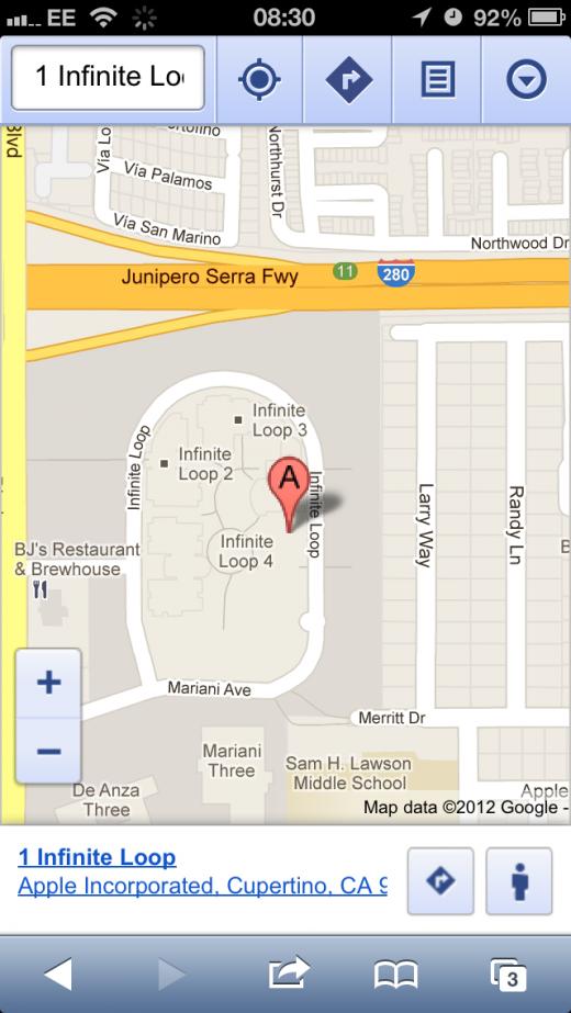 how to get street view on google maps ipad ios6
