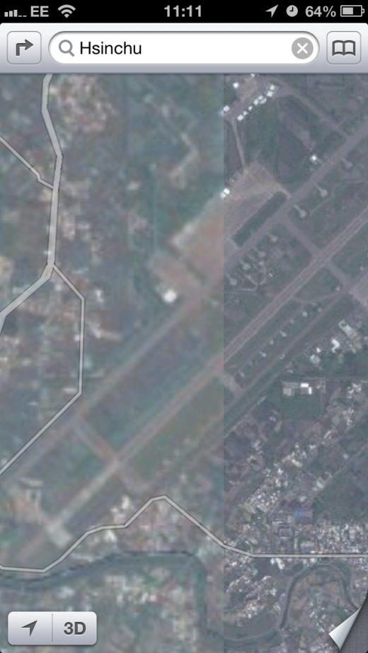 IMG 4354 520x923 Taiwanese government unhappy with Apples Maps, asks it to blur images of $1.4B missile defense system