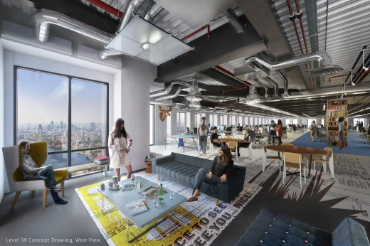 Level39 cgi mockup 520x346 Canary Wharf Group to launch accelerator for financial tech businesses