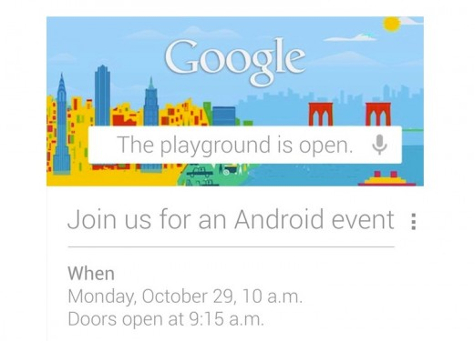 Screen Shot 2012 10 17 at 5.14.54 PM 520x375 Google hosting Android event Monday, October 29th in New York