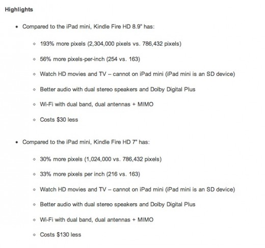 Screen Shot 2012 10 25 at 1.12.58 PM 520x487 Amazon sells the Kindle Fire HD hard even in its earnings release with six mentions of iPad mini
