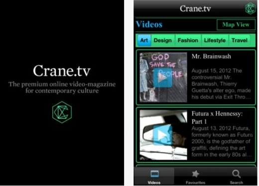 Screenshot 22 520x374 Crane.tv launches a new iOS app, bringing its cultural online video magazine to the palm of your hand