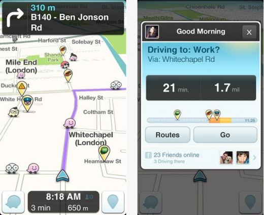 a19 520x425 Waze wheels out major updates, and now lets you see friends' ETAs and send pick up requests