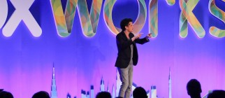 Aaron Levie talks at Boxworks