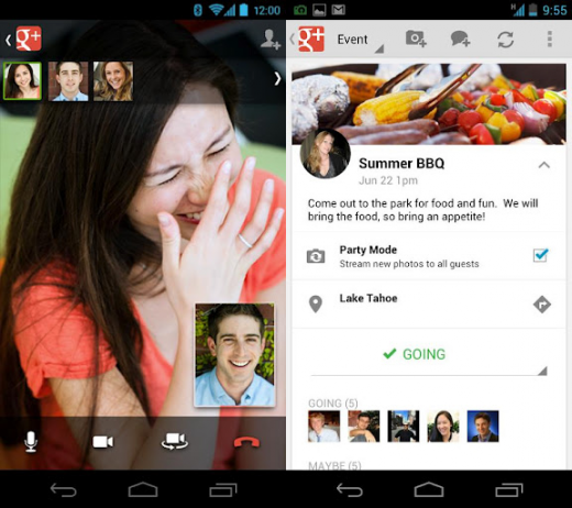 android googleplus 520x462 Google+ app adds controls for Pages, Find People option for Android and iPhone 5 support for iOS