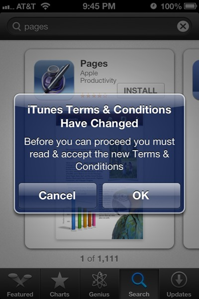 appstoretandc Apple fixes infinite ToS loop plaguing US iTunes/App Store users