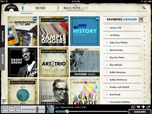 blue note 2 520x390 OpenEMI and Groovebug release Blue Note Records App for jazz fans