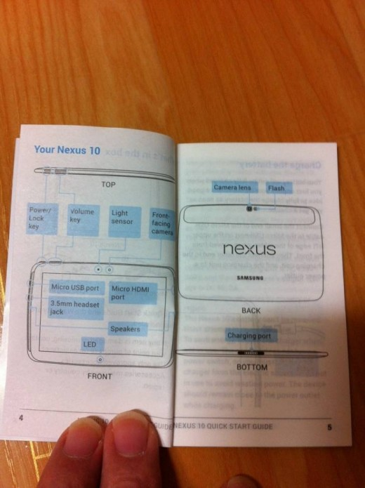 Googles new Samsung made Nexus 10 confirmed in user guide leak