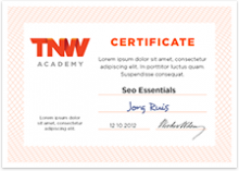 cert 220x157 TNW Academy: Sign up to take the first step to becoming an SEO expert