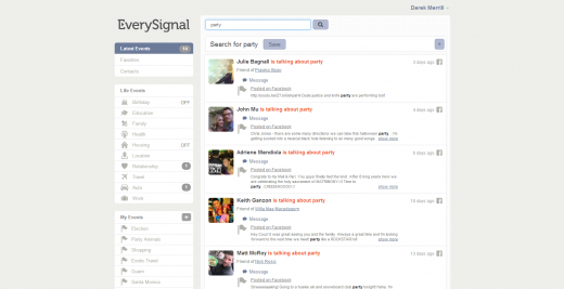everysignal screenshot 02 520x267 Science backed EverySignal uses social search to keep you up to date on lifes most important moments