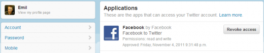 facebook to twitter1 520x105 Facebook users are reporting their updates are no longer being sent to Twitter