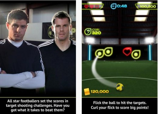 foot 520x375 I Am Playr lands on iOS devices as a flick football game, starring Steven Gerrard and other top pros
