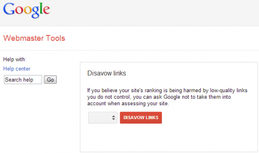 google disavow links 520x307 Googles Disavow Links tool lets site masters ask to exclude low quality links they cant control
