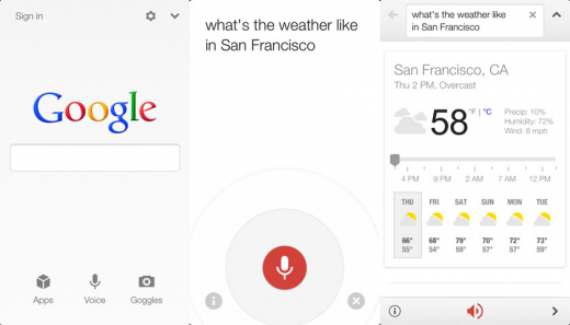 google search ios 520x297 Google Search for iOS finally gets voice features that let you ask questions, listen for answers