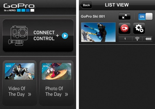 gopro app screenshots 520x367 GoPro releases an iOS app enabling you to control what youre capturing