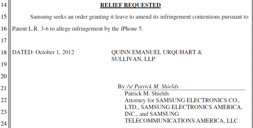 iphone5 infringementcontention 520x264 Samsung adds iPhone 5 to US patent lawsuit against Apple, as promised