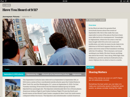 link tv app detail 520x390 LinkTV World News for the iPad wants to reinvent global news for the YouTube era