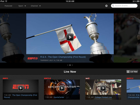 ESPN, ESPN2, ESPNU and ESPN3 now all available to AirPlay in WatchESPN iOS app