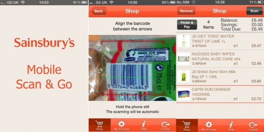 sainsburys app copy 520x260 Sainsburys trials new QR enabled Mobile Scan & Go shopping app for iPhone and Android
