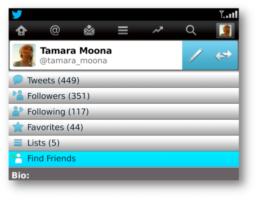 twitter 3 520x397 Twitter for BlackBerry updated with expanded tweets and a quick follow button