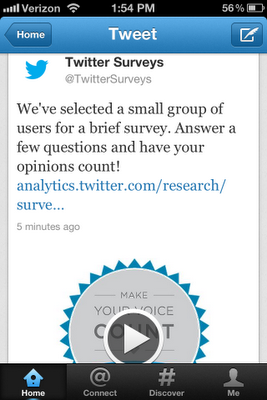 twitter surveys 1 Twitter partners with Nielsen to push surveys as Promoted Tweets
