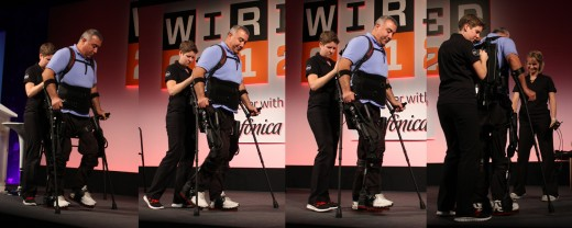 walking 520x208 Ekso Bionics exoskeleton receives a standing ovation at Wired 2012