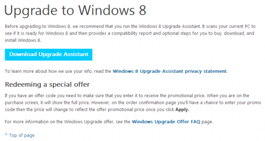 windows 8 loophole 7 520x277 Microsoft site loophole lets anyone buy Windows 8 Pro for just $15