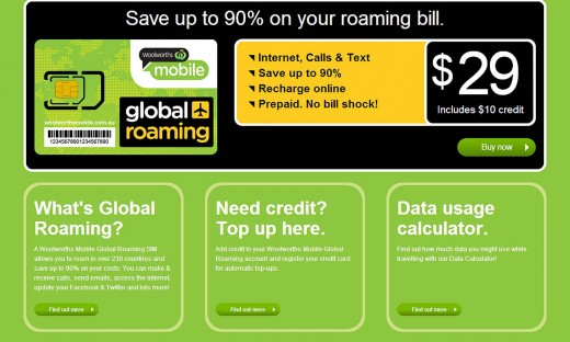 woolworths global roaming 520x312 Irelands Cubic Telecom partners with Woolworths Australia to take the sting out of roaming