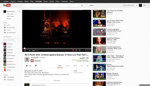 youtube crop 3 YouTube hints at a cleaner, simpler redesign that closely resembles Google+