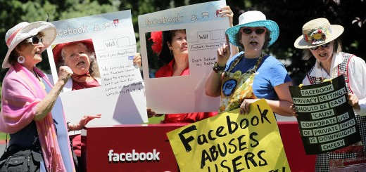 Demonstration Held Against Facebook's Privacy Policies