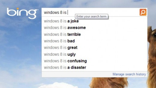 2012 11 18 11h02 29 520x292 Google doesnt appear to think much of Windows 8, and Bing isnt nicer