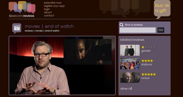 60 seconds screen cap 730x389 Culture vultures: 60secondreviews brings trusted voices in short form video to mobile
