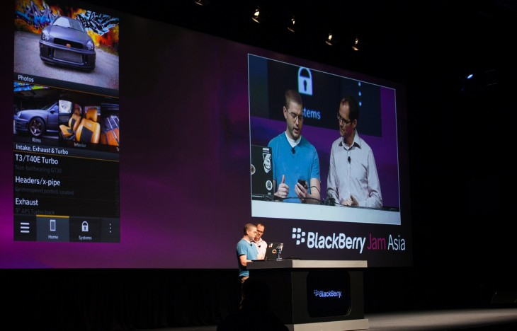 BBJamAsia2012 GeneralSession IMG 1817 730x468 RIM opens Built for BlackBerry program, reveals Qwerty BB10 Alpha device, rebrands app store