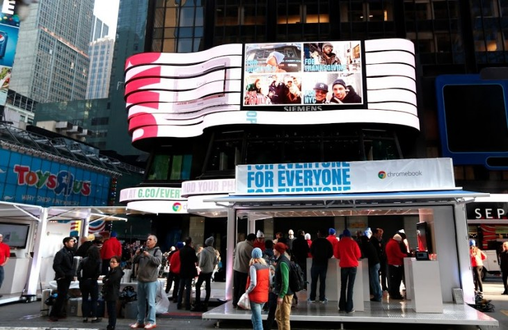 ForEveryoneTimesSquare WideShot 730x475 Google takes over Times Square, just to prove its Chromebook is for everyone