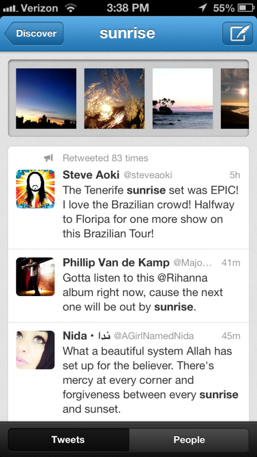 IMG 0463 2 520x923 Twitter's pre expanded Cards come to the search, Discover sections of iOS, Android apps