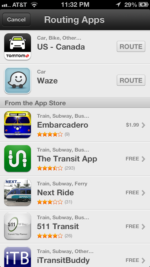 IMG 0527 Driving navigation apps slipping into Apple Maps transit section, is it oversight or leniency?