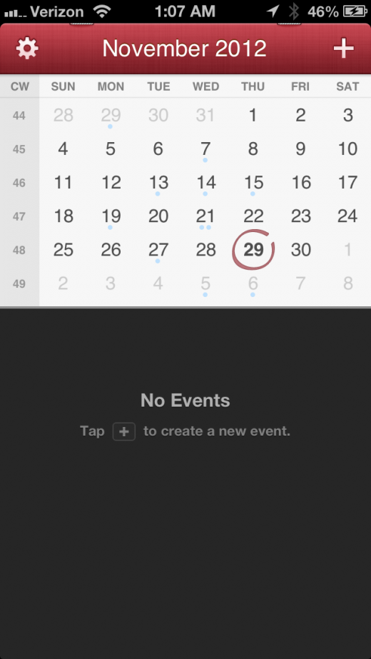 IMG 0533 520x923 The gorgeous Fantastical for iPhone re invents the calendar as a timeline of events