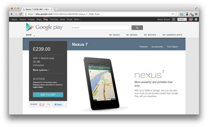 Nexus 71 730x446 Nexus 7 with HSPA+ data is back in stock on Google Play in the UK for the first time since launch day