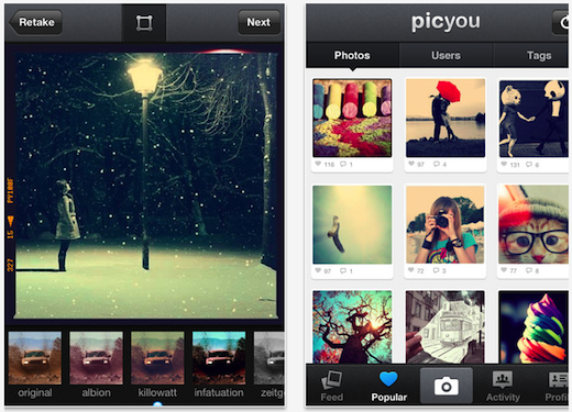 PicYou Share Photos with Free Camera Filters for iPhone iPod touch and iPad on the iTunes App Store 114234 Dont have $1 billion to spend? Buy this Instagram clone with over 1m downloads now for $1.5m